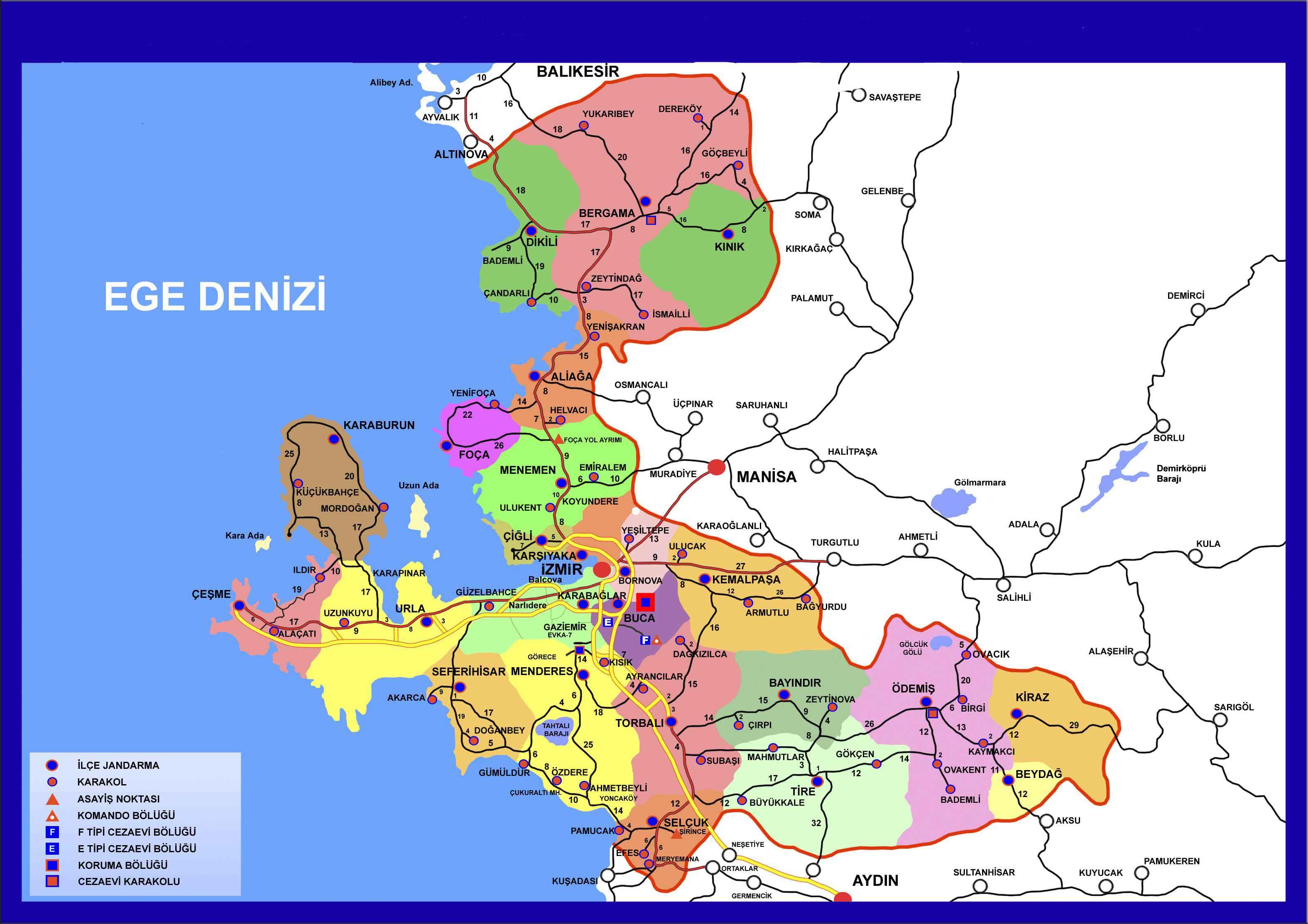 Image result for izmir haritası